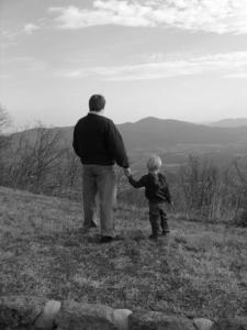 Evoluzione fotografica personale padre e piccolo